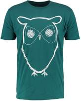 Knowledge Cotton Apparel Owl Print Tshirt Bayberry