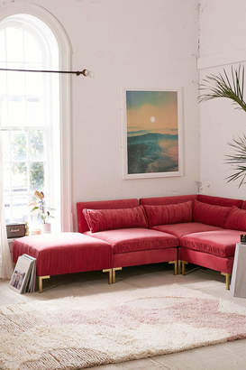 Pleasant Velvet Sectional Sofa Shopstyle Pabps2019 Chair Design Images Pabps2019Com