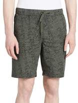 Calvin Klein Jeans Texture Print Drawstring Cotton Shorts