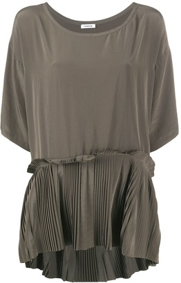 P.A.R.O.S.H. Pleated-Hem Blouse