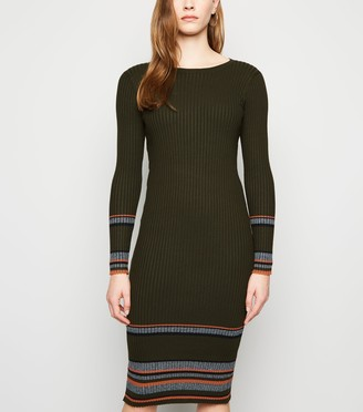 New Look Sunshine Soul Ribbed Midi Dress