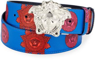 Versace Men's Reversible Medusa Head Leather Belt