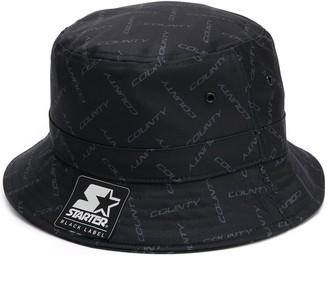Marcelo Burlon County of Milan Tonal Logo Print Bucket Hat