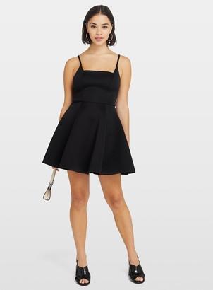 Miss Selfridge PETITE Black Scuba Prom Dress
