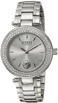 Versus By Versace Versus Versace Women's 'BRICK LANE CRYSTAL' Quartz Stainless Steel Casual Watch, Color:Silver-Toned (Model: S71080016)