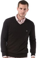 Timberland Mens Williams River V-Neck Knit Sweater Black