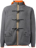 Bark patch pocket jacket - men - Polyamide/Wool - S