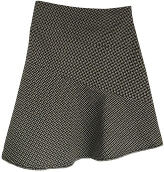 Maje Grey Cotton - elasthane Skirt for Women