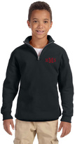 Princess Linens Black Personalized Quarter-Zip Fleece Pullover - Kids