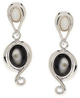 Mother of Pearl Carolyn Pollack Pebble Beach Sterling Earrings