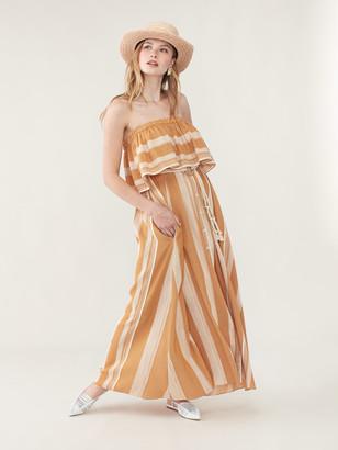 Lemlem Derartu Strapless Ruffle Dress