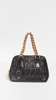 What Goes Around Comes Around Prada Black Mini Prom Bag