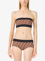 Michael Kors Deco Hexagon Bandeau Bikini Top