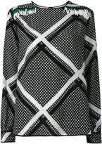MSGM chain print longsleeved blouse - women - Silk - 40