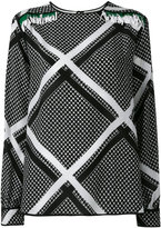 MSGM chain print longsleeved blouse - women - Silk - 42