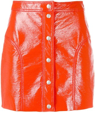 Courreges Buttoned Mini Skirt