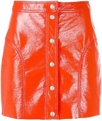 Courreges buttoned mini skirt