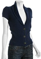 ink wool-cashmere banded cardigan