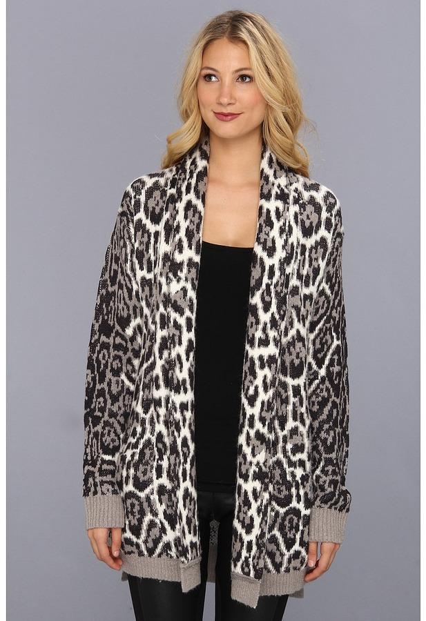 Juicy Couture Wild Lynx Jacquard Cardi (Angel Wild Lynx) - Apparel