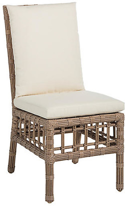 Newport Outdoor Side Chair - Burlap - SUMMER CLASSICS INC - frame, burlap; upholstery, white