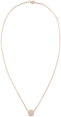 Lana 14k Diamond Pave Disc Pendant Necklace