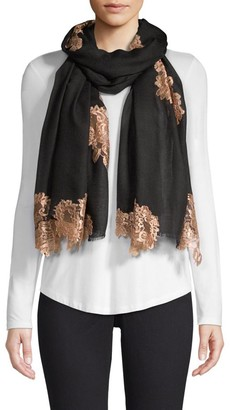 Bindya Evening Lace Wool & Silk Scarf