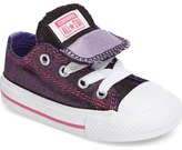 Converse Chuck Taylor ® All Star ® Double Tongue Shimmer Sneaker (Baby, Walker & Toddler)