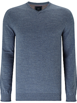 John Lewis Budding Cotton V-neck Jumper