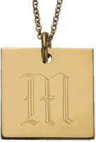 Old English Initial Square Pendant