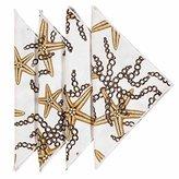 Cloth Napkins Linen Napkins Dinner Napkins Party Nautical Decor Starfish 18 Inches Pk 4