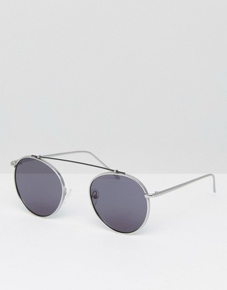 Jeepers Peepers round sunglasses with double brow