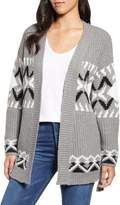 Press Jacquard Detail Mix Stitch Belted Cardigan