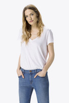 J Brand Janis V Neck In White