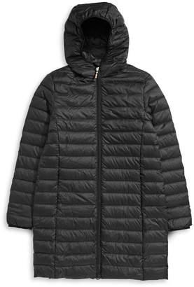 HBC Stripes Women's Mid-Length Packable Down Jacket
