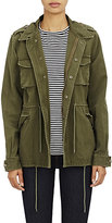 Barneys New York Women's Canvas Army Jacket-Green