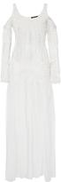 Wes Gordon Embellished Chiffon Open Shoulder Gown