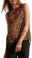 Lauren Ralph Lauren Asymmetrical Back Sleeveless Tank Top