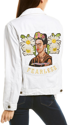 Jakett Frida Kahlo Denim Jacket