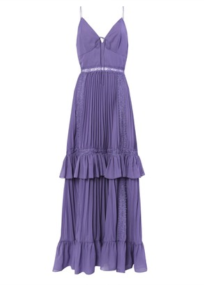 True Decadence Dusty Purple Pleated Maxi Dress