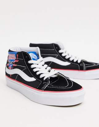 Vans sk8 high top trainers-Black