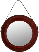 OKA Saddle Leather Round Mirror