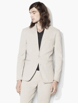John Varvatos Vintage-Inspired Striped Shawl Jacket