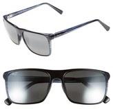 Maui Jim Women's 'Flat Island' 58Mm Polarized Sunglasses - Blue Stripe/ Neutral Grey