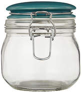 Leon Small Glass Preserving Jar, Teal