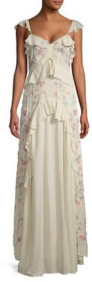 Love Sam Ruffled Maxi Dress
