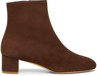 Mansur Gavriel Shearling 40mm Ankle Boot - Chocolate
