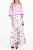 Peter Pilotto Printed Cotton Long Skirt