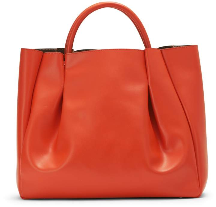 Alexandra de Curtis Maxi Ruched Tote Orange