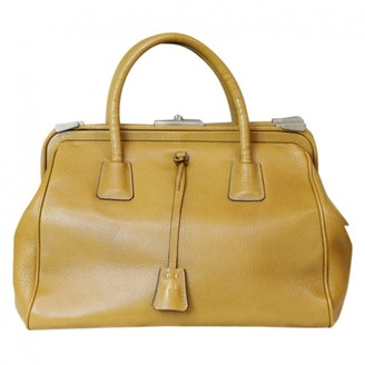 Prada Yellow Leather Handbags
