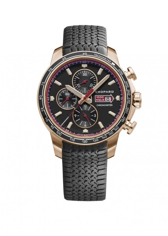 Chopard Mille Miglia GTS Black Dial Black Rubber Chornograph Automatic Men's Watch